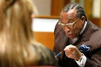 Dallas County Commissioner John Wiley Price took part in a meeting with interim Sheriff Marian Brown to discuss ways to take better care of women in Dallas County Jail at the Dallas County Commissioners Court meeting on Jan 9. (David Woo/Staff Photographer)