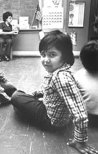 Marcello attended Carivad Nunez's class at Proyecto Educacion.(1980 File Photo/Geof Payne)