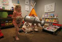 Will plays with his sister, Lauren, in the playroom at their home in McKinney, Texas, on Wednesday, June 20, 2018.(Jae S. Lee/Staff Photographer)