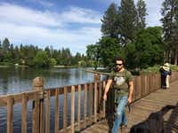 Take a stroll around Mirror Pond, a dammed part of the Deschutes River, in Drake Park on the edge of downtown Bend.(Special Contributor/Sheryl Jean)