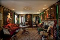 The living room at the house of James Dowell and John Kolomvakis in Dallas.(Special Contributor/Nan Coulter)