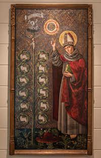 """A 1490 painting entitled """"St. Bonaventure with the Tree of Life"""" by an unknown artist hangs in the home of art collectors Tom and Jeanne Campbell.(Rex C. Curry/Special Contributor)"""