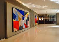 Artwork brightens a hallway used by Pedway visitors inside the Prudential Building in Chicago.(Katherine Rodeghier/Special Contributor)