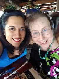 Tatro (right) with friend Yareli Esteban at their last lunch meeting in June.<br>(Courtesy of Yareli Esteban<br>)