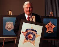 Dallas County Sheriff Jim Bowles introduced a new badge for the sheriff's office in 1997.(Irwin Thompson/Staff)