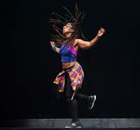 Camille A. Brown & Dancers company member Catherine Foster is among the cast that will perform Brown's <i>BLACK GIRL: Linguistic Play</i> to open the 2018-19 season of arts presenter TITAS. (Photo by Christopher Duggan)