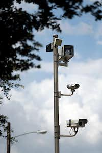 The City of Irving uses a set of red light cameras at O'Connor Road and Lane Street. (Tom Fox/Staff Photographer)