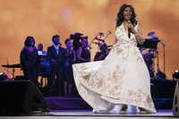 Aretha Franklin performs at Radio City Music Hall during the 2017 Tribeca Film Festival in New York.(Charles Sykes/Invision/AP)