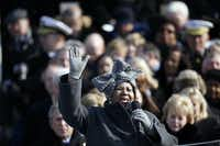 Aretha Franklin performs at President Barack Obama's inauguration in Washington on Jan. 20, 2009. In the following months, Detroit milliner Luke Song received more than 5,000 orders for the spring version of the Aretha Hat, available in a variety of pastel colors and selling for $179 apiece.(Damon Winter/The New York Times)