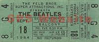 A balcony ticket to see the Beatles at their 1964 Dallas concert cost only $5.50. (Handout)