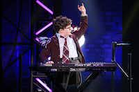 <p>Theo  Mitchell-Penner, who was discovered in an open audition in New York,  performs in the national tour of <i>School  of  Rock</i>. (Photo by Matthew Murphy)</p>