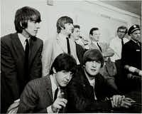 The Beatles at a press conference in Dallas in 1964.(1964 File Photo/The Dallas Times Herald)