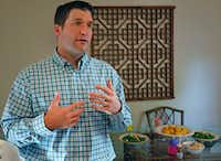 Brian Conroy is pictured at his home in Dallas on Aug. 8, 2018.(Louis DeLuca/Staff Photographer)