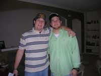 Brian Conroy (left) and his identical twin Andrew in 2007.(Courtesy of Brian Conroy)