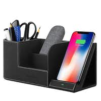 EasyAcc Qi-certified wireless charging stand with multi-device organizer(EasyAcc)