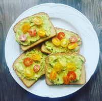 Avocado Toast with tomatoes(Ashley Douglas/Special Contributor)