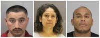 From left: Concepcion Rosales-Zuniga, Celia Jaimes, Vincente Parra.(Dallas County Sheriff's Department)
