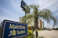 <p>The MainStay Suites in Ingleside sustained damage from Hurricane Harvey last August. Crews were still working on the hotel earlier this summer. </p>(Smiley N. Pool/Staff Photographer)
