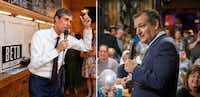 Democratic Rep. Beto O'Rourke (left) and Republican Sen. Ted Cruz (right) are trying to catch the attention of voters in different ways.(Jeffrey McWhorter and Smiley Pool/Staff Photographers)