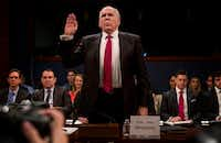 Former CIA director John Brennan testified before the House Intelligence Committee on the Russia investigation in Washington, D.C. (Melina Mara/The Washington Post)