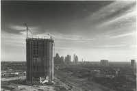 The Cityplace tower under construction in 1985 just north of downtown Dallas.(DMN files)