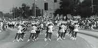 The Garland High School drill team, The Debs, marched in the 1989 Labor Day parade in Garland.(1989 File Photo/Staff)