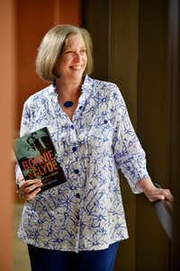 Dallas writer Karen Blumenthal with her book <i>Bonnie and Clyde: The Making of a Legend</i>(Ben Torres/Special Contributor)