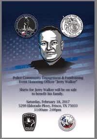 The flier promoting a Dallas Fallen Officer Foundation fundraiser to benefit the family of slain Detective Jerry Walker. Little Elm police were upset that their patch was used without permission.(Courtesy/Courtesy)
