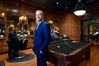 Bruce Schultz the chief executive officer and owner of the Boardroom salon for men, at the Lovers Lane location in Dallas on Dec. 09, 2016. Ben Torres/Special Contributor(Ben Torres/Special Contributor)
