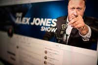 "<p><span style=""background-color: transparent; font-size: 1em;"">A computer screen displays the Twitter account of far-right conspiracy theorist Alex Jones. He said his Twitter account had been suspended for a week, the latest online platform to take action against th e activist. Twitter suspended the personal account of Jones, who operates the Infowars website that has disputed the veracity of the 9/11 attacks, the Sandy Hook school massacre and other events.</span></p>(Eric Baradat/Agence France-Presse)"