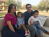 David Salazar, his wife, Brenda, and their children moved from Monterrey to the Dallas area, part of the integration between northern Mexico and North Texas.(Alfredo Corchado/Staff Photographer)