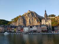 Dinant has a picturesque setting on the Meuse River, in the shadow of its 200-year-old mountaintop citadel. (Travis Pinson/Special Contributor)