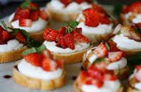 Strawberry Balsamic Whipped Ricotta Crostini(Brian Elledge/Staff photographer)