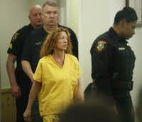 Tonya Couch walks into her arraignment by Judge Wayne Salvant on Jan. 8, 2016.(File Photo/Nathan Hunsinger)