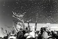 Several thousand attended the sixth annual Texas Freedom Parade in Oak Lawn on Sept. 24, 1989.(Leslie White/The Dallas Morning News)