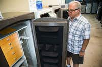 Bill Mahan, owner of The Safe Company, has praised the Trump administration for including imported safes on its next slate of proposed China tariffs. But part of the reason he's pushing for the levies is that earlier steel tariffs have increased the prices on the American-made safes that he sells.. (Ashley Landis/The Dallas Morning News)(Ashley Landis/Staff Photographer)