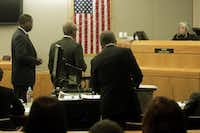Then-District Attorney Craig Watkins (left) was held in contempt of court by state District Judge Lena Levario in 2013 for refusing to testify about allegations of prosecutorial misconduct.(File photo)