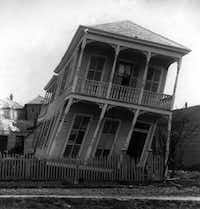 """A slightly twisted house,"" according to this image's original caption(Library of Congress)"