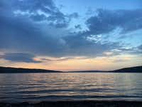 Sunset over Cayuga Lake in Ithaca, N.Y. Taken spring 2016.(Jon Lambert)