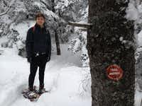 Jon snowshoeing in the Adirondacks in upstate New York. This picture was taken days before his concussion in February 2014.(Rebecca Brunner)