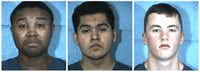 <p>From left: Taylor High School seniors Devant Y'Shaun Davis-Brooks, Emmanuel Pina-Tejas and Kadin Carter Watson, all 17, were charged with making a terroristic threat.</p>(Williamson County Sheriff's Office)