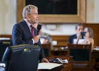 Texas Sen. Don Huffines says cities are seeing continued sales and property tax windfalls. He says property tax reform is a top priority for the Senate, the Republican Party and for Texans in 2019 and supports Gov. Greg Abbott's plan.(Ashley Landis/Staff Photographer)