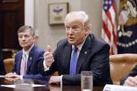 "<p><span style=""font-size: 1em; background-color: transparent;"">President Donald Trump's push to impose tariffs on tens of billions of dollars in imports is undermining some of his other major policy initiatives. GOP allies like Rep. Jeb Hensarling of Dallas had warned him of just that possibility. (Olivier Douliery/Abaca Press)</span></p>"