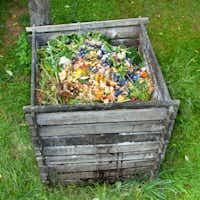 Compost bin in the garden.(Getty Images/iStockphoto)