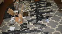 <p>Denton authorities seized more than $1.5 million in drugs, cash, weapons and stolen items Aug. 2. </p>(Denton Police Department)