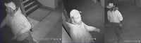 Security footage that shows Thomas Britton in the church at the time of the vandalism.(Fort Worth Police Department)