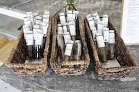 Vials of tea leaves await inhaling at Leaves Book and Tea Shop in Fort Worth.(Lawrence Jenkins/Special Contributor)
