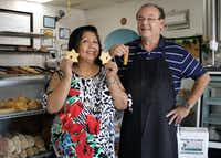 Caty and Danny Graves of La Poblanita Bakery in Dallas.(Jason Janik/Special Contributor)