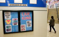 Signs give examples of how to be kind at Scott Johnson Middle School in McKinney.(Vernon Bryant/Staff Photographer)