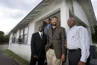 In 2005, Pastor Vincent Parker, second from right, oversaw the construction of  a new Golden Gate Missionary Baptist Church, where he has been pastor now for close to 20 years.(John F. Rhodes/Staff photographer)